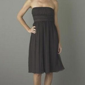 J.Crew 4 Emily Black Silk Strapless Dress